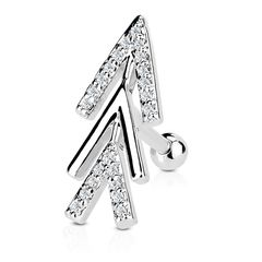 Tragus Ohr Piercing Stecker Helix Cartilage Barbell Pfeil Arrow Autiga®