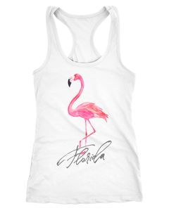 Damen Tank-Top Shirt Flamingo Seepferdchen Florida Watercolor Neverless®