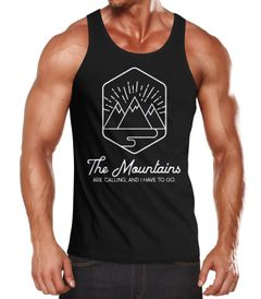 Herren Tank-Top Wandern Berge The Mountains are Calling Neverless®