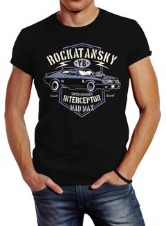 Herren T-Shirt Rockatansky V8 Interceptor Car Slim Fit Neverless®