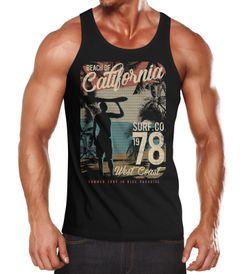Herren Tank-Top California Surfing Shirt Neverless®