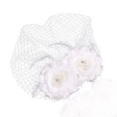 Fascinator Birdcage Brauthut Netz Gesicht Schleier Braut Haarschmuck Blume Feder