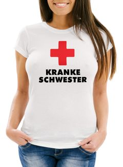 Kranke Schwester Damen T-Shirt Slim Fit Moonworks®