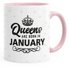 Queens are born in {style_variation} Geburtstags Spruch Kaffee-Tasse MoonWorks®