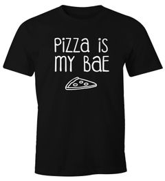 Herren T-Shirt Pizza is my BAE Before Anything Else Lover Fun-Shirt Moonworks®