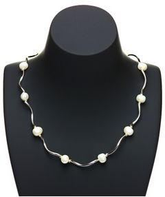 Perlenkette Halskette Damen Süßwasser Perlen Collier