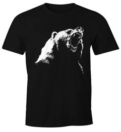 Herren T-Shirt Grizzly Bär Moonworks®