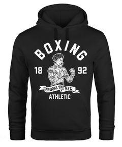 Hoodie Herren Retro Vintage Boxer Boxen Kapuzen-Pullover Männer Neverless®