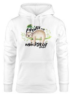 Kapuzen-Pullover Damen Hoodie Faultier Ich wurde positiv auf Müdigkeit getestet Sloth Moonworks®