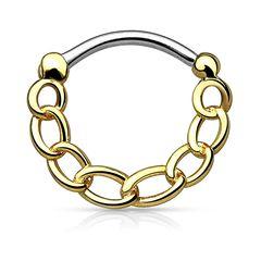 Nasenpiercing Septum Ring Clicker Nasenring Klapp Piercing Nase Ketten Chain
