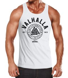 Herren Tank-Top Valhalla Runen Vikings Wikinger Muscle Shirt Neverless®