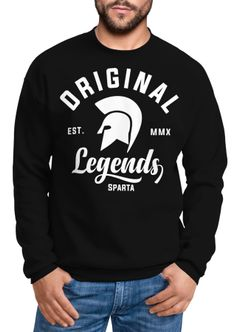 Sweatshirt Herren Original Legends Gladiator Sparta Rundhals-Pullover Neverless®