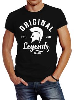 Gladiator Sparta Fighter Original Legends Streetwear Herren T-Shirt Slim Fit Neverless®
