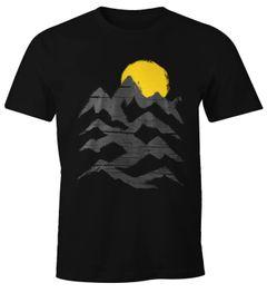Wandern Herren T-Shirt Berge Sonnenaufgang Moonworks®