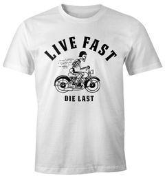 Live Fast Die last Herren Spruch Fun T-Shirt Fun-Shirt Moonworks®