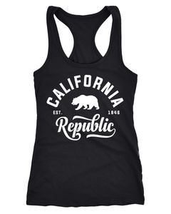 Damen Tank-Top California Republic Racerback Neverless®