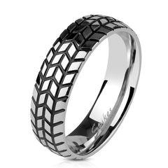 cooler Edelstahl Ring Reifen-Profil Herren Damen Autiga®