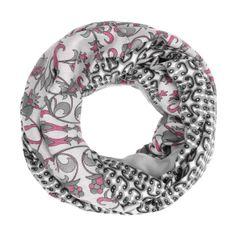 Damen Schlauchschal Loopschal Rundschal Floraler Print Infinity Tube Scarf Autiga®