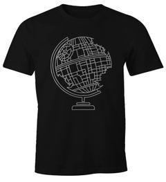 Herren T-Shirt Death Globe Todes-Stern Globus Fun-Shirt Moonworks®