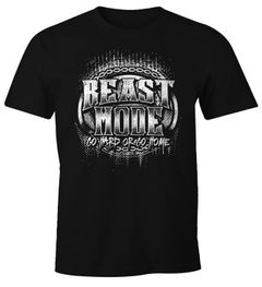 Herren T-Shirt Beast Mode Moonworks®