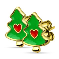 Autiga® Weihnachts Ohrstecker Ohrringe Weihnachtsbaum Christbaum Christmas Tree