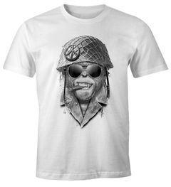 Herren T-Shirt Gorilla Helmet Fun-Shirt Moonworks®