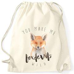 Turnbeutel You  make me fox devils wild Liebe Denglisch Spruch Love Quote lustig verliebt Freund Freundin Hipster Beutel Tasche Sportbeutel Gymsac Gymbag Moonworks®