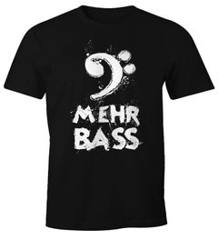 Herren T-Shirt Mehr Bass Musik Party Moonworks®