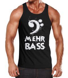 Herren Tanktop Mehr Bass Party Musik hören Moonworks®