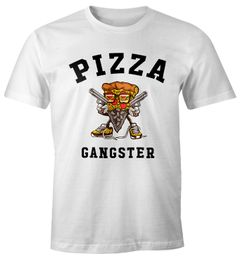 Pizza Gangster Herren T-Shirt Fun-Shirt Moonworks®