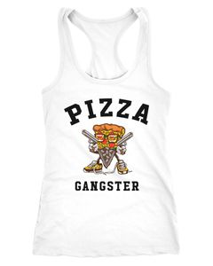Damen Tanktop Pizza Gangster Racerback Moonworks®