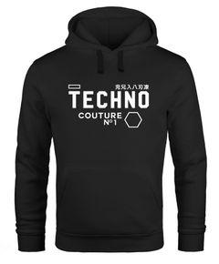Techno Kapuzen-Pullover Hoodie Herren Männer Neverless®