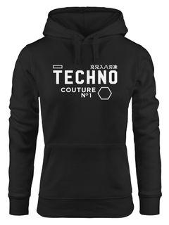 Techno Kapuzen-Pullover Hoodie Damen Neverless®