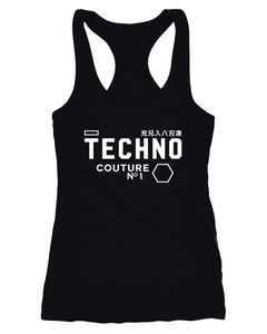 Tank-Top Techno Logo Schrift Damen Racerback Neverless®