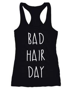 Bad Hair Day Tanktop Damen Aufdruck Racerback Moonworks®