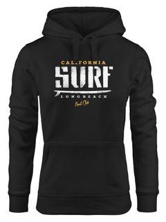 Hoodie Damen Surf-Brett Design Kapuzen-Pullover Neverless®