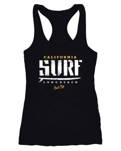 Damen Tank-Top Surfer Motiv Racerback Neverless®