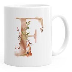 """Buchstaben-Tasse """"{style_variation}"""" Tasse mit Buchstabe Alphabet Monogramm Watercolor gezeichnet Kaffeetasse Autiga®"""