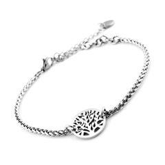 Damen Edelstahl Armband Armkette Lebensbaum Tree of Life Autiga®