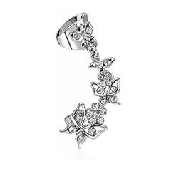 Ohrstecker Ohrklemme Ohrring Helix Cartilage Ear Cuff Schmetterling Blume Zirkonia