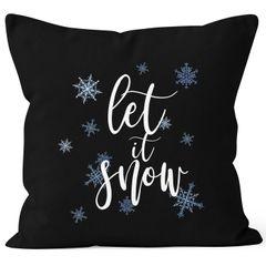 Kissenbezug Weihnachten Let it Snow Eiskristalle Schnee Christmas Winter Autiga®