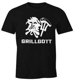 Herren T-Shirt Grill-Gott Fun-Shirt Moonworks®