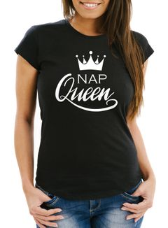Damen T-Shirt NAP Queen Crown Slim Fit Moonworks®