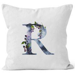 """Kissenbezug Buchstaben-Kissen """"{style_variation}"""" Buchstabe Alphabet Monogramm Anfangsbuchstaben Watercolor gezeichnet Kissen-Hülle Autiga®"""