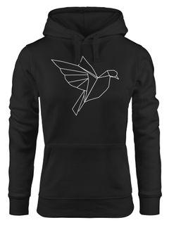 Kapuzen-Pullover Damen Hoodie Polygon Origami Vogel Bird Moonworks®