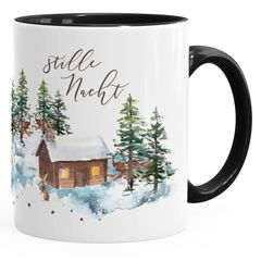Weihnachts-Tase Stille Nacht Weihnachten Winter Schnee Silent Night Christmas Kaffeetasse Teetasse Keramiktasse Autiga®