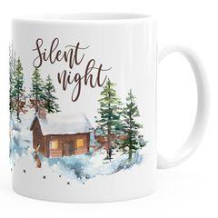Kaffee-Tasse Weihnachten Winter Schnee Silent Night Christmas Weihnachts-Tase Kaffeetasse Teetasse Keramiktasse Autiga®