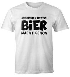 Ich bin der Beweis Bier macht schön Herren T-Shirt Trink Spruch-Shirt Moonworks®