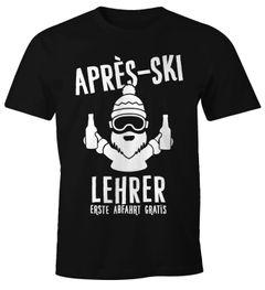 Après Ski Herren T-Shirt Lehrer Fun-Shirt Moonworks®