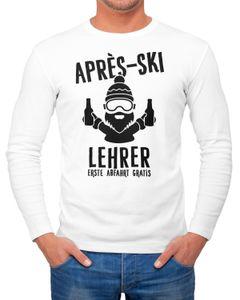 Herren Long-Sleeve Apres Ski Lehrer Langarm-Shirt Moonworks®